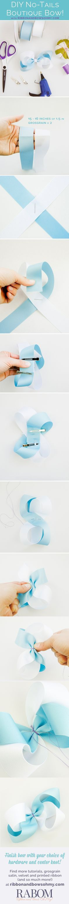 No Tails Boutique Bow Tutorial   Ribbon And Bows Oh My!