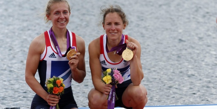 Another rowing gold was won in the women's lightweight double sculls. It took a while for Katherine Copeland and Sophie Hosking to realise that they'd won after crossing the line!