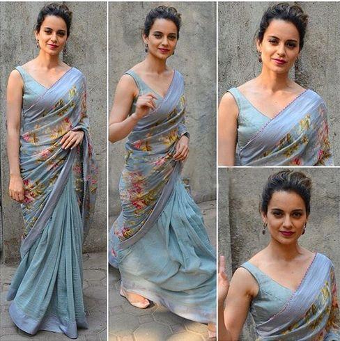 Kangana in saree style