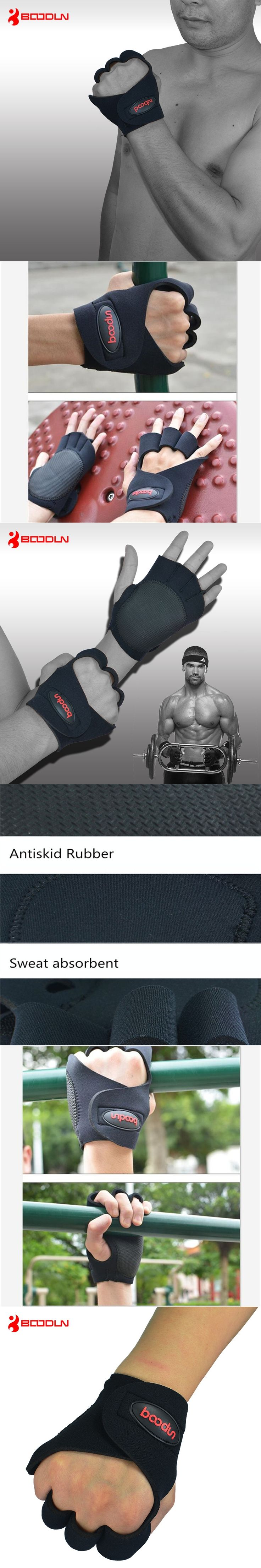 1 Pair Brand Men Women Gym Body Building Training Sports Fitness Weight Lifting Gloves Antiskid Hollow Dumbbell Barbell Gloves