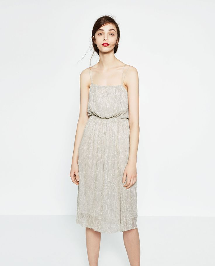 Image 2 of SHIMMER FABRIC DRESS from Zara