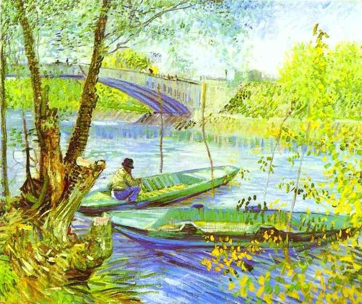 Fishing and Spring - Vincent van Gogh