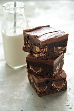 Nutella Brownies mit Ferrero Rocher
