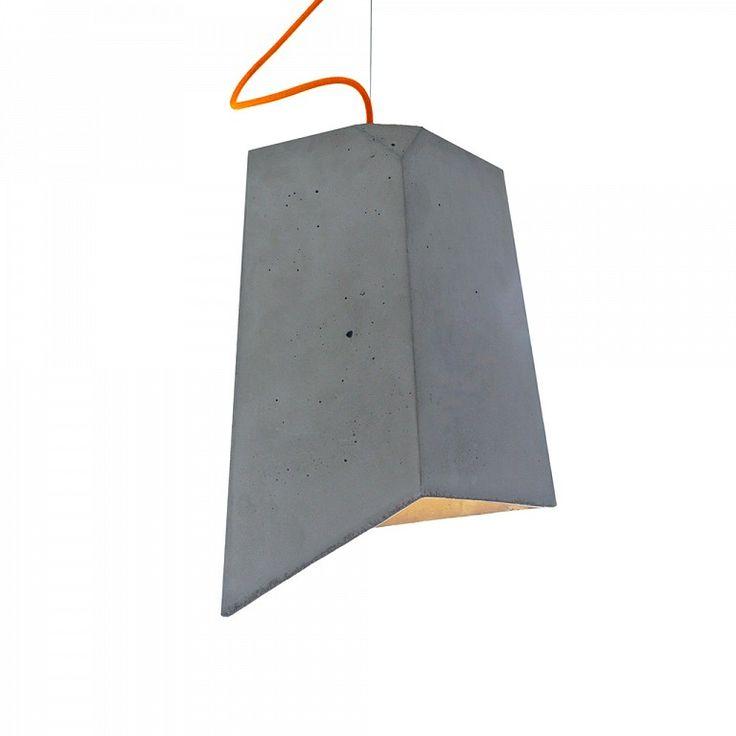 Lampy loft lampa betonowa imindesign Cliff pomarańczowa lampa