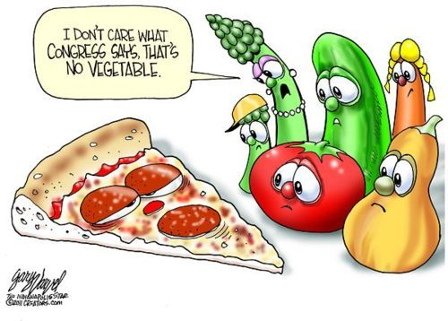 My teenagers even commented on how silly the government was by deeming pizza a vegetable!Living Healthy, Kids Lunches, Schools, Veggies Tales, Pizza, Funny, Vegetables, Healthy Food, Real Food