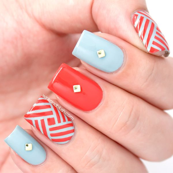 Striping Tape Nail Art Tutorial: 196 Best Images About Striping Tape Nail Designs On Pinterest