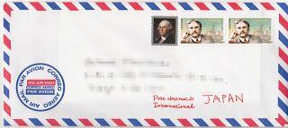 アメリカから日本に手紙/葉書を出す -封筒の書き方や切手、国際郵便の全てを知る! - なにわヨメの三都物語;主にNY、時々ソウルと大阪