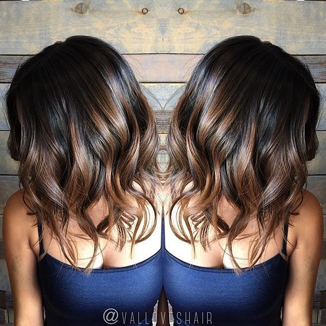 ❤️In love with this brunette lob❤️ @valloveshair #brunette #balayage #lob