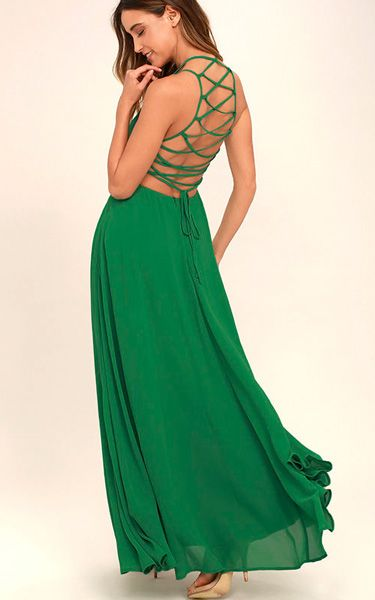Strappy To Be Here Green Maxi Dress via @bestmaxidress