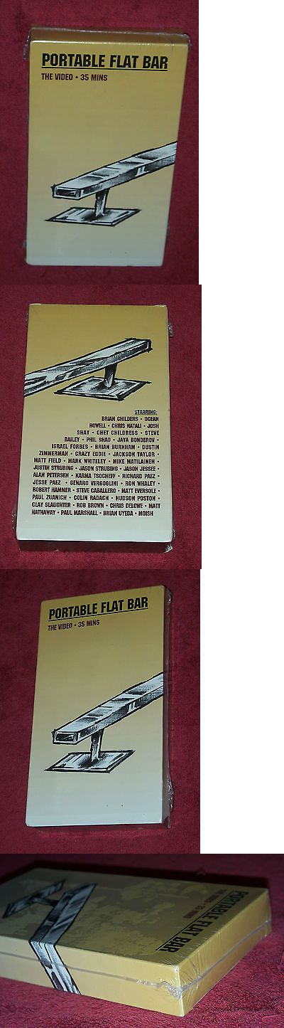 Books and Video 58128: Skateworks Portable Flat Bar Super Rare Sk8 Skateboard Video Vhs New 1998 Nos -> BUY IT NOW ONLY: $32 on eBay!