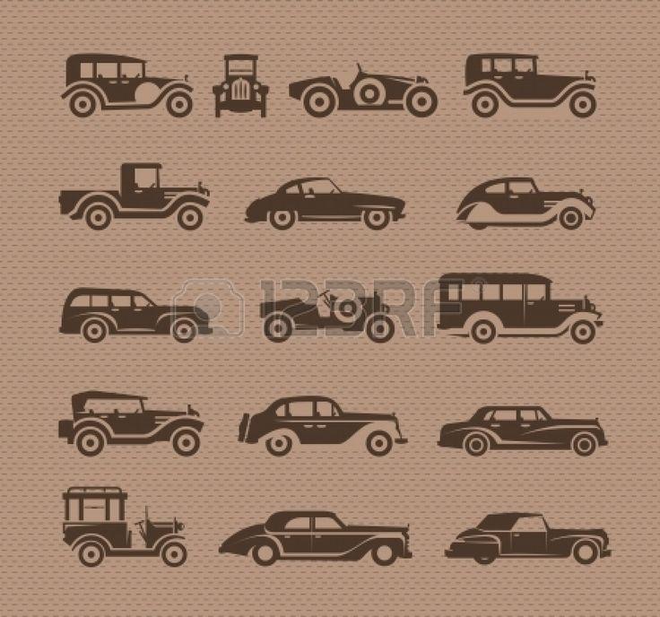 Carros Antigos. O Formato Do Vetor Royalty Free Cliparts, Vetores ...