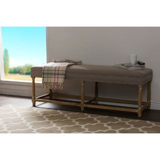 Shop for Jett French Inspired Beige Fabric Upholstered And Nail Heads  Trimmed Bench  Get free  Nail HeadFurniture OutletOnline. Best 25  Online furniture stores ideas on Pinterest   Online