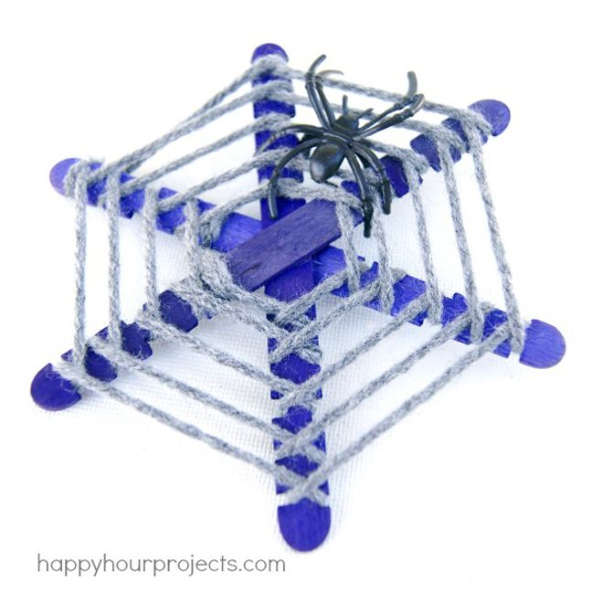 Spiderwebs popsicle sticks