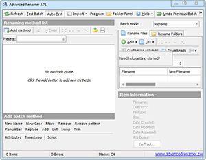Toplu dosya adı değiştirme programı olarak adını duyurmayı başaran Advanced Renamer Full yazılımı sayesinde bilgisayarınızda bulunan dosya ve klasörleri sadece bir kaç tıklamayla kolay ve toplu bir şekilde isimlendirme işlemi yapabilirsiniz. Benzer yazılımlara göre içerisinde daha fazla araç bulabileceğiniz Advanced Renamer programı alanında lider olduğunu söyleyebilirim.