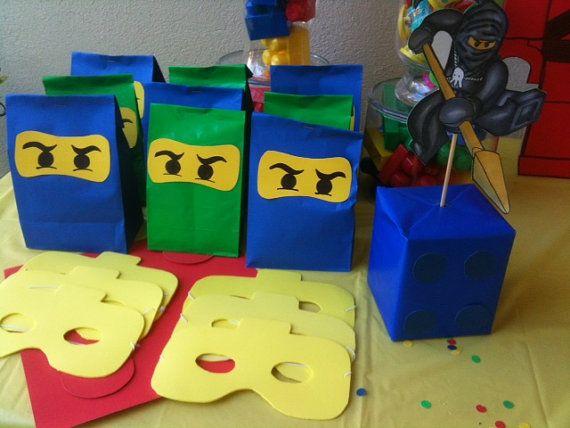 Party Set Of 20 Lego Ninjago Birthday Goodie Bags
