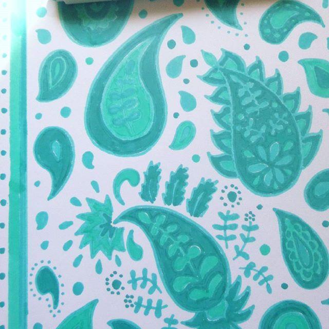 Paisley, Abstract pattern.  Sketch for new print design   Эскиз для принта, снова мои любимые восточные огурцы   #Argunika #art #artist #surface #surfacedesign #designer #printandpattern #surfacepattern #patterndesign #pattern #boho #hippie #peace #fashion #paisley #indian #ethnic #paint #marker #sketch #принт #богемный #свободныйхудожник #freelancerartist