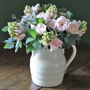 fragrant arrangement with flowers and garden herbs x