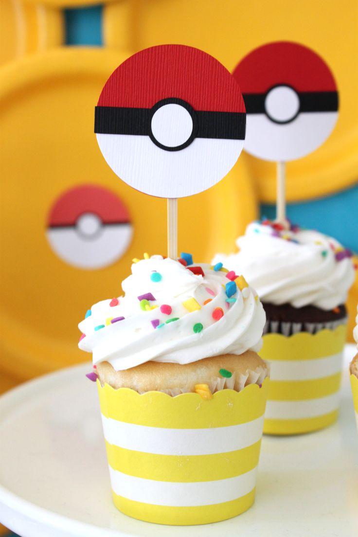 Yummy cupcakes! #BirthdayExpress #PokemonParty #CraftThatParty