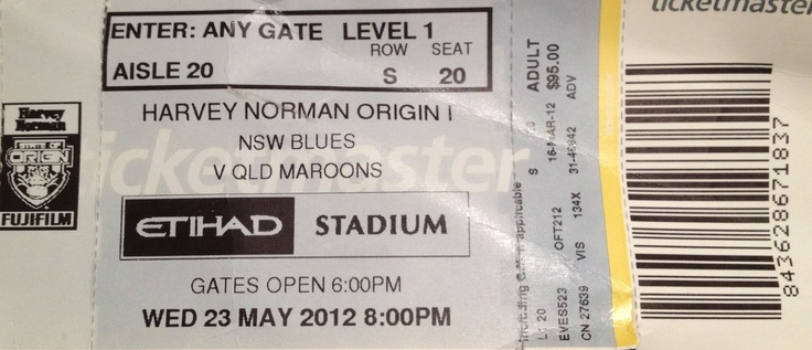 Rugby League State of Origin, Melbourne, 2012