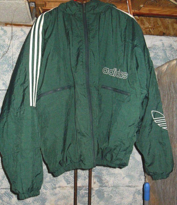 vintage 1990 39 s adidas adult large green trefoil hoodie. Black Bedroom Furniture Sets. Home Design Ideas