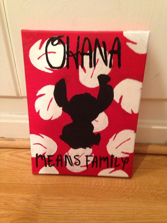 Lilo and Stitch Canvas Painting by SavySurgeon on Etsy                                                                                                                                                                                 More
