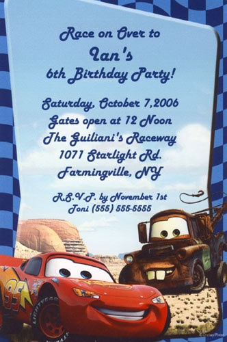 Cars Invitation Card Template Free: 17 Best Images About McQueen B-Day Invitation Ideas On