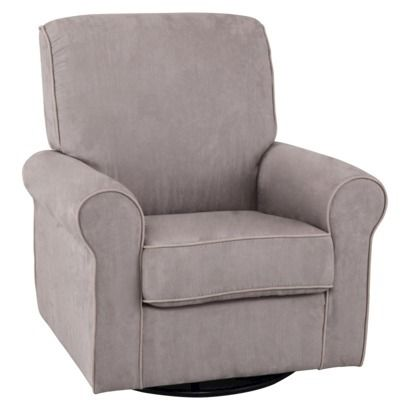 I don't care if I don't get anything else, I NEED THIS GLIDER! Simmons Kids Augusta Upholstered Glider - Dove Grey