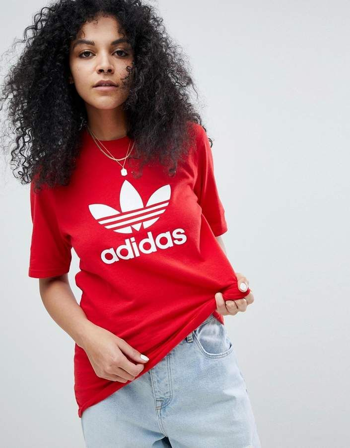 Adidas adidas Originals adicolor Trefoil Oversized T Shirt