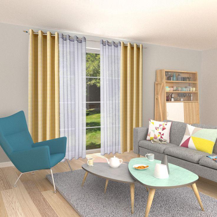 les 25 meilleures id es de la cat gorie voilage gris sur. Black Bedroom Furniture Sets. Home Design Ideas