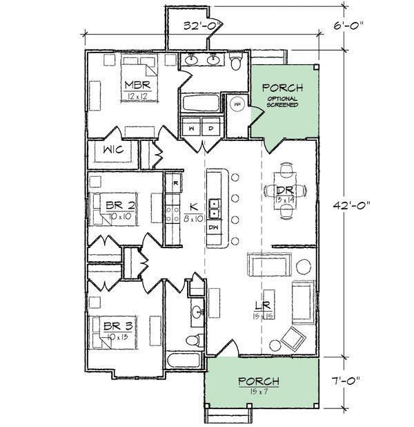 Award winning cottage 10072tt cottage northwest for Award winning narrow lot house plans