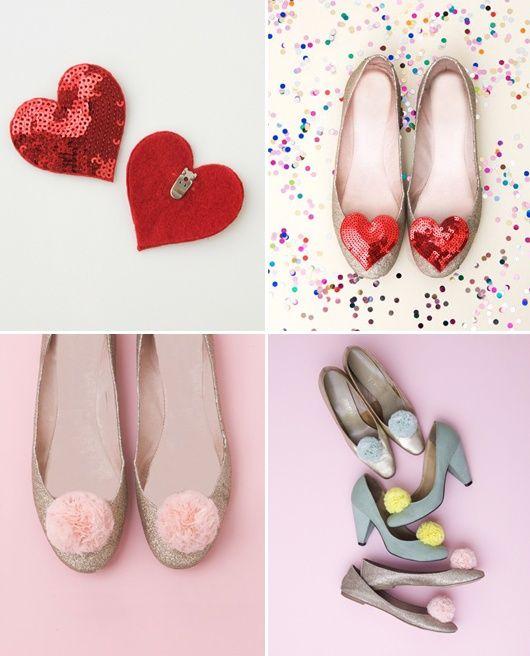 shoe clips 20 DIY Shoe Makeover Ideas
