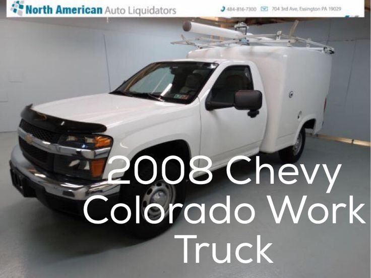 Car of the day 2008 Chevy Colorado Work Truck with 38,005 for $11,691