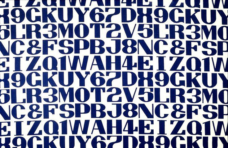 Alphabet by Alexander Girard, 1952.