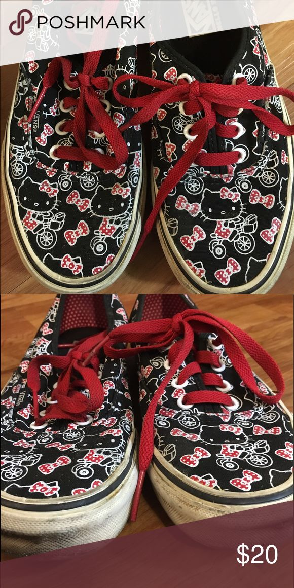Hello kitty vans Hello kitty vans in great shape Vans Shoes Sneakers