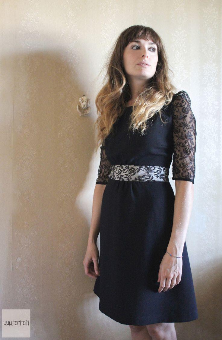 "Tarita FW13/14, Tarita ""Numero UNO"" Collection. Black lace and wool dress."