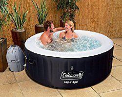 Coleman Miami 4 Person Inflatable Spa Hot Tub, Black