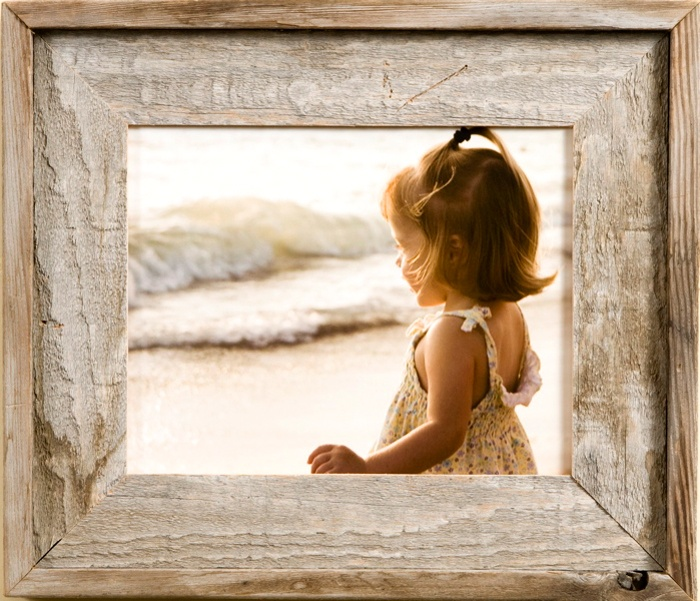 4x4 Country Picture Frame, Narrow Width 2.5 inch Lighthouse Series Country Picture Frame - A Rustic Decor Favorite 4x4