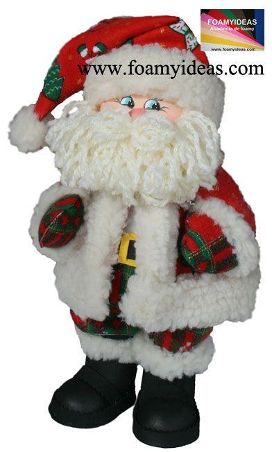 Wao, such a sweet Santa Claus! It is amazing! You can do it himself/herself! Que maravilla este Papá Noel! Un diseño exclusivo de la Academia de Foamy para todos los amantes de las manualidades. Hecho de foamy o goma EVA. http://www.foamyideas.com/cursos foamyideas@gmail.com