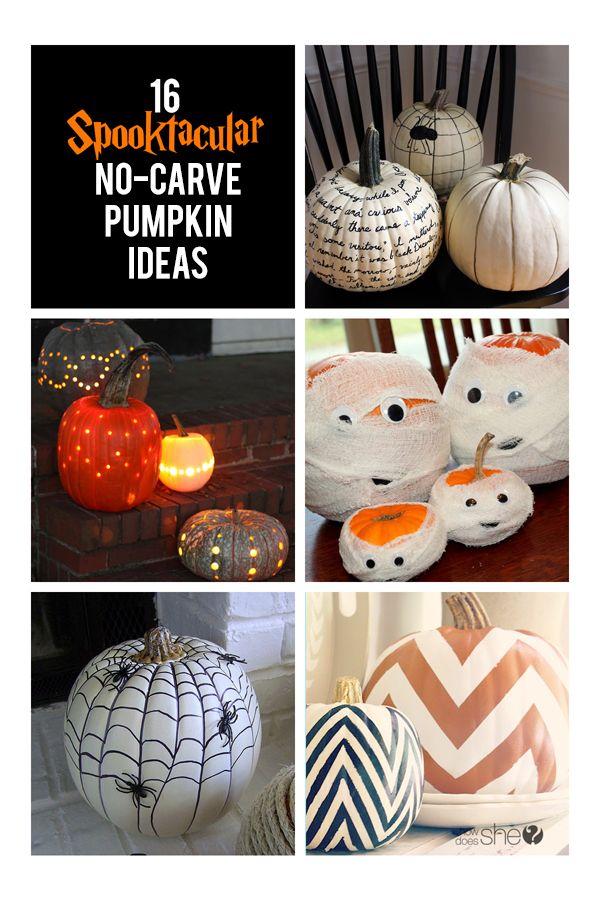 16 Spooktacular No-Carve Pumpkin Ideas! #howdoesshe #Halloween #diypumpkins howdoesshe.com