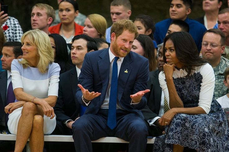 Prince Harry and Michelle Obama watch basketball – in pictures | US news | The Guardian