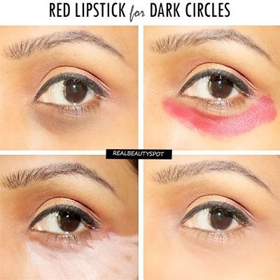 weird beauty hacks (like red lipstick under your eyes to cover dark circles) that actually work!