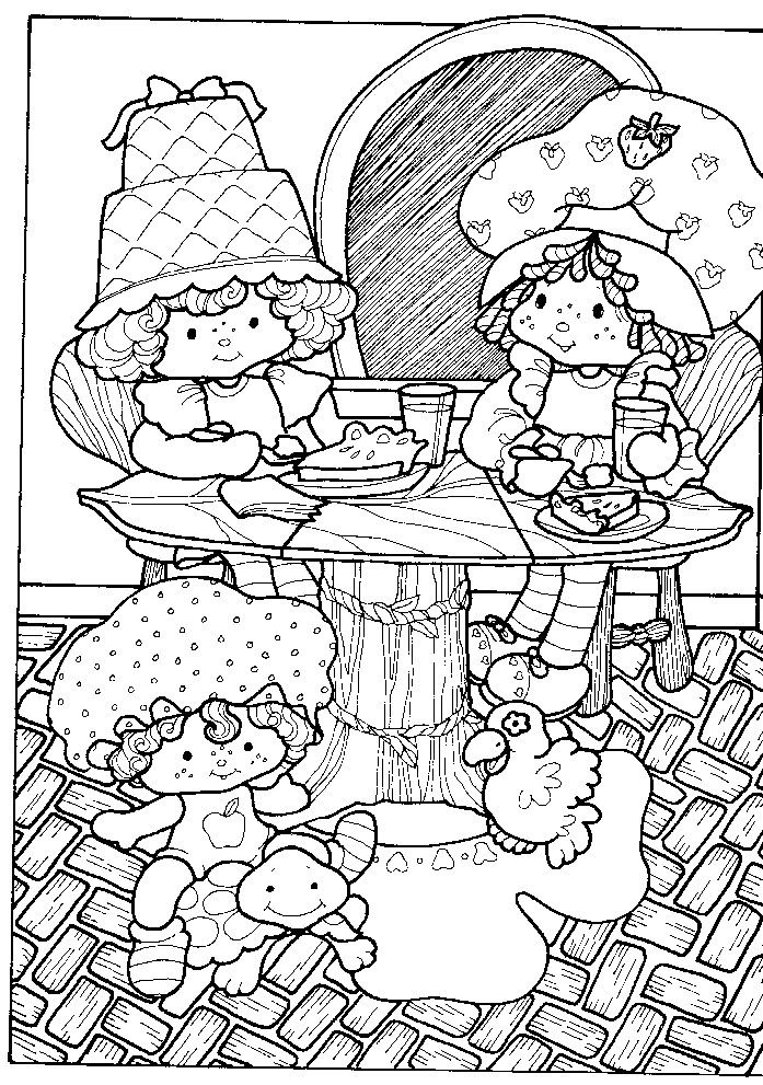 strawberry shortcake coloring book berry happy home toy addictcom