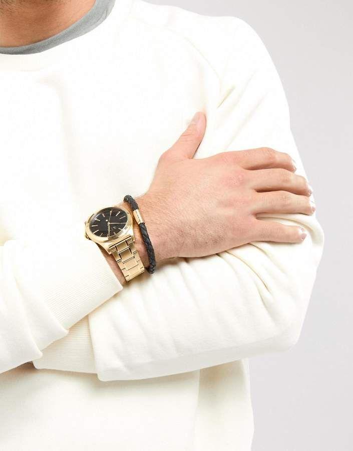 30f87d4ea5c Armani Exchange AX7104 Gold Watch   Bracelet Gift Set.  clothestobuy   mensstyle  urbanstyle