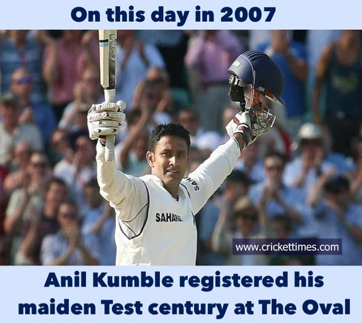 Onthisday In 2007 Anil Kumble Became The Oldest Indian 36y 297d To Score A Maiden Test Ton In 2020 Anil Kumble General Knowledge Facts Cricket Time