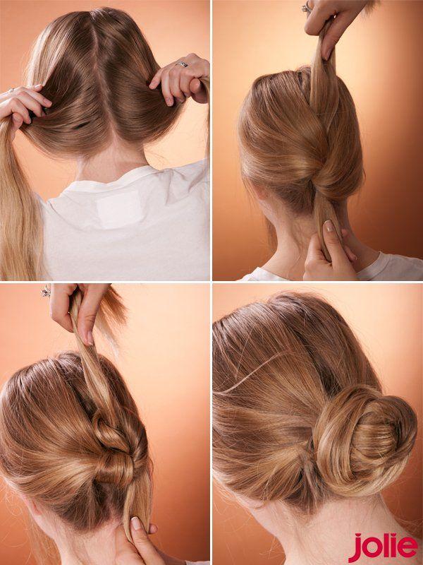 Und hier seht ihr nochmal alle Steps zur Haarknoten Anleitung, um den perfekten Haarknoten zu machen. Wer es einmal geschafft hat, einen Haarknoten zu binden, der wird ihn immer wieder anwenden, denn Haarknoten Frisuren sind easy, stylisch und praktisch zu gleich. In diesem Sinne: Viel Freude beim Haarknoten stecken! Seht hier noch mehr schöne Hochsteckfrisuren zum Nachstylen...