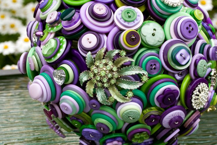 Cadbury Purple and Green Button Bouquet | wowthankyou.co.uk