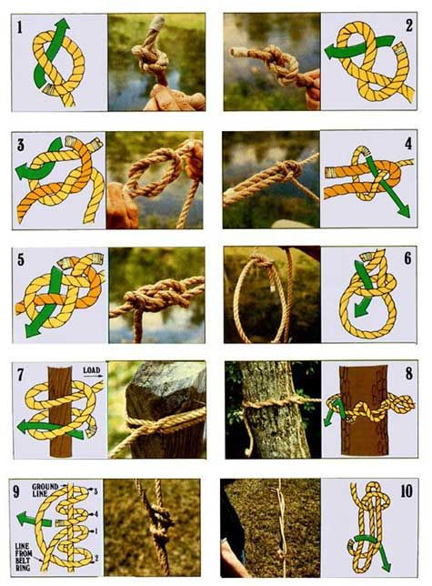 How to Tie the 10 Most Useful Knots