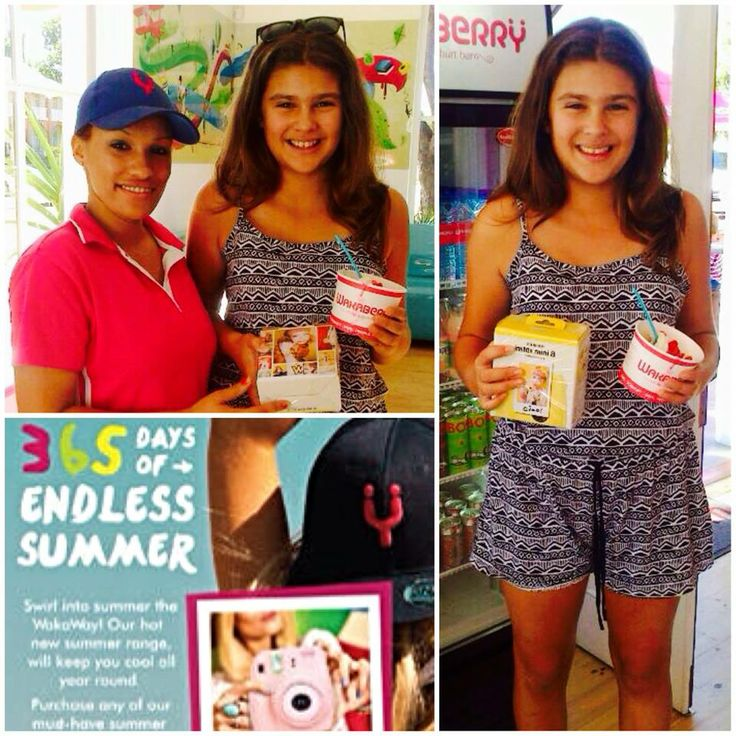 A big CONGRATULATIONS to Hannah for being one of the five winners to receive a Fujifilm Instax Mini 8 Camera!  Thank you for your support Hannah!, we hope you enjoy your prize!  #competition #wakaberrygeorge #endlesssummer