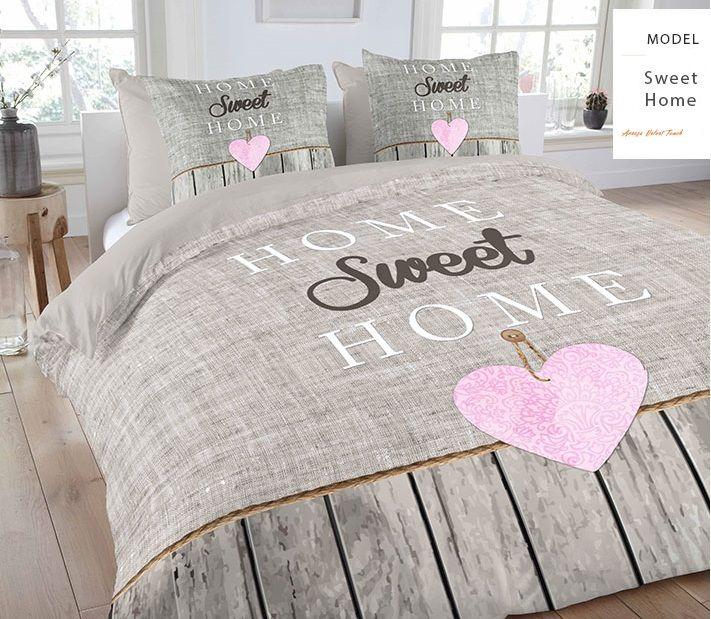 Beżowa pościel holenderska Sweet Home