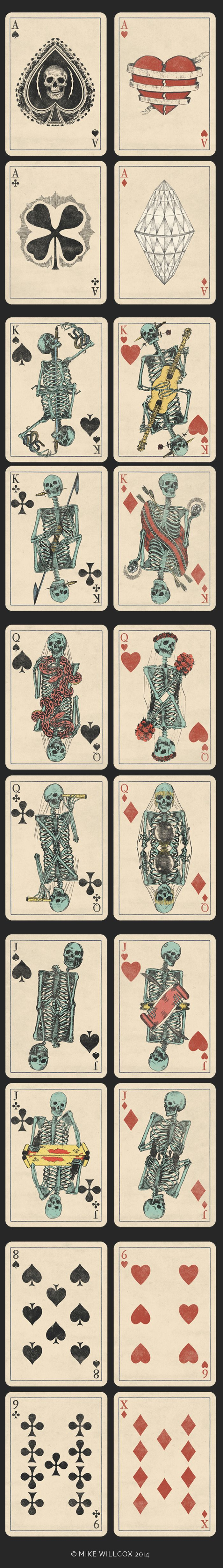 A Deck of Skeletons. Vintage STYLE Playing Cards. by Mike Willcox — Kickstarter